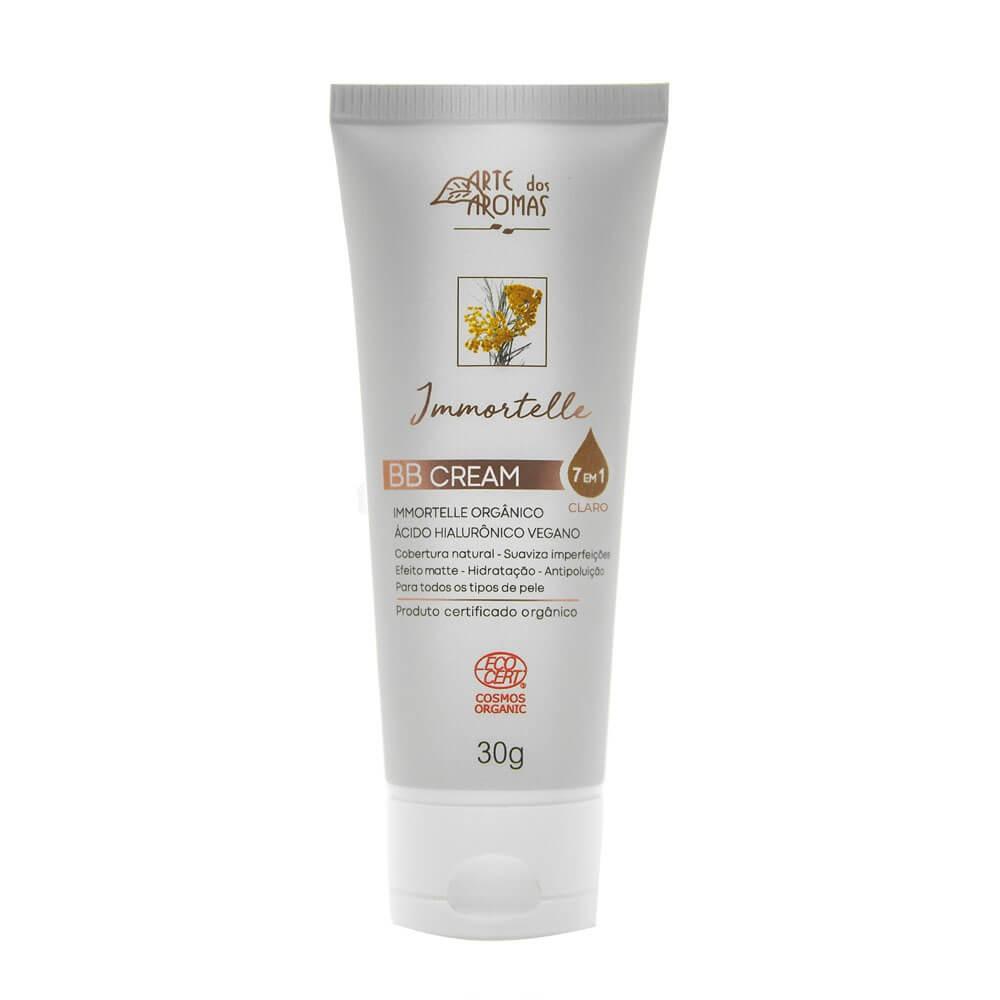 Arte dos Aromas BB Cream Natural Immortelle com Ácido Hialurônico Claro 30g