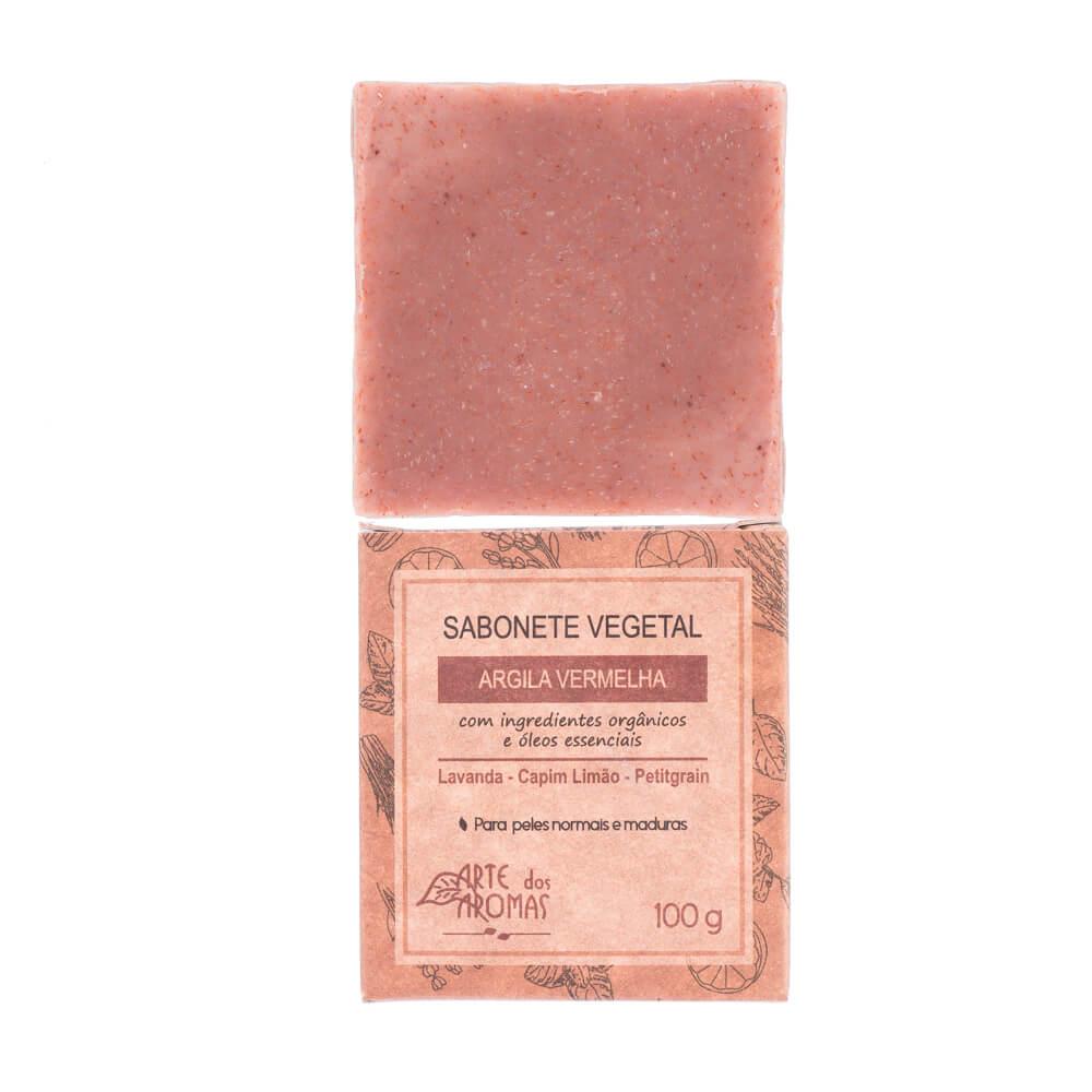 Arte dos Aromas Sabonete Vegetal Natural de Argila Vermelha 100g