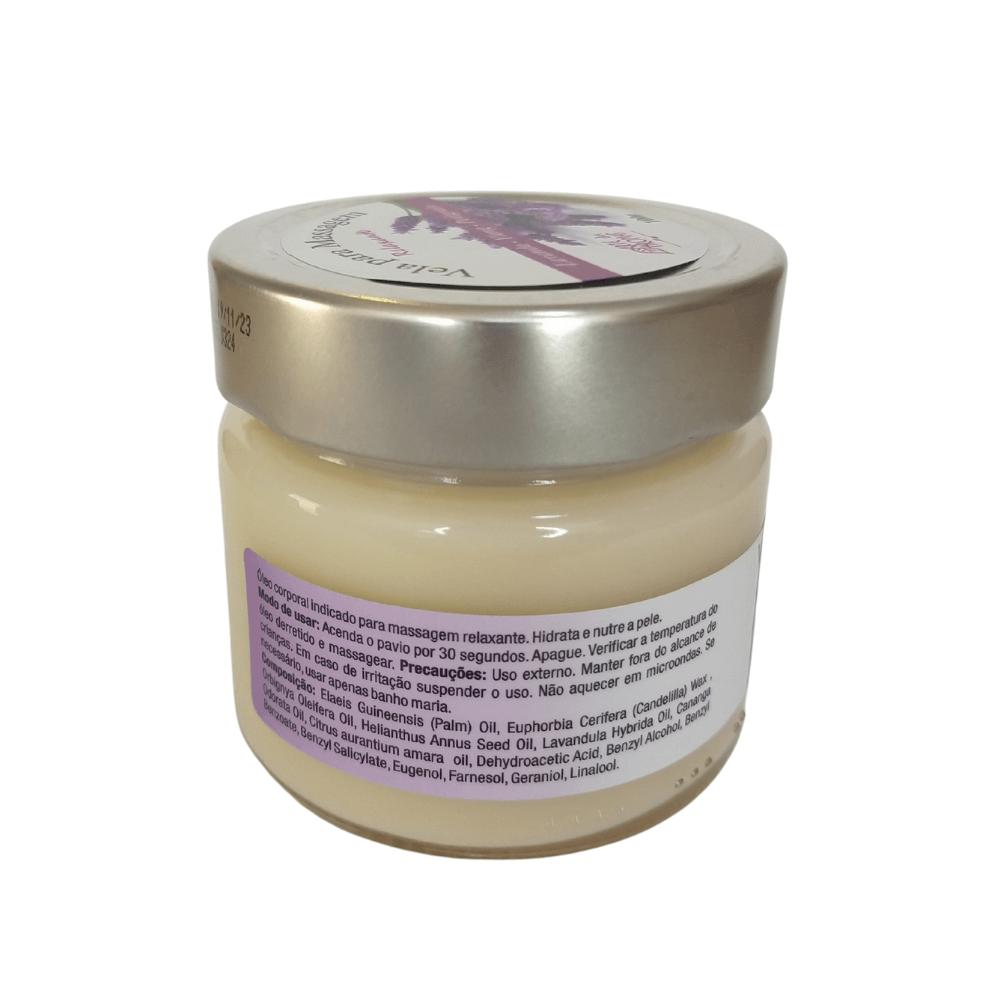 Arte dos Aromas Vela Para Massagem Natural Relaxante 100g