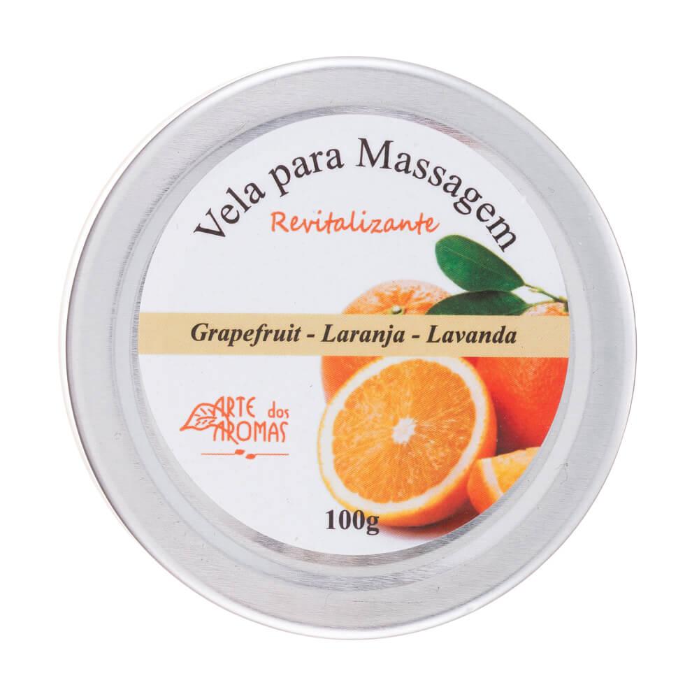 Arte dos Aromas Vela Para Massagem Natural Revitalizante 100g
