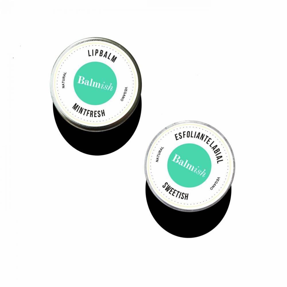 Balmish Lip Duo Kit com Esfoliante Labial e Lip Balm Hidratante 16g