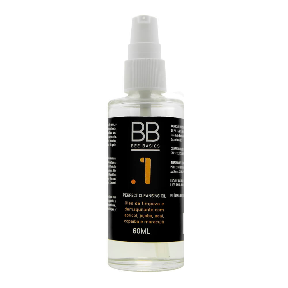 Bee Basics Cleansing Oil Perfect para Limpeza Facial 60ml