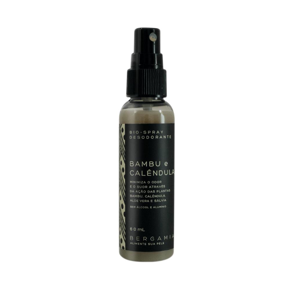 Bergamia Desodorante Bioativo Natural em Spray Bambu e Calêndula 60ml