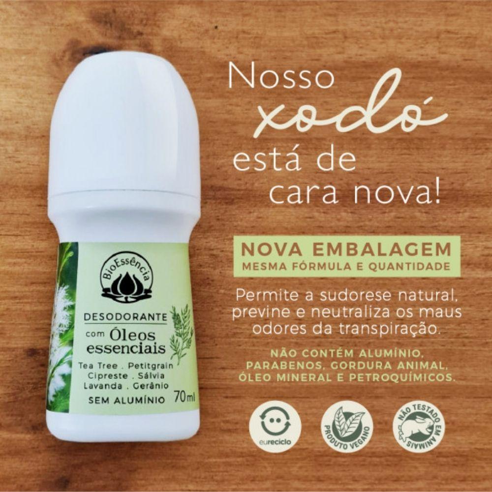 BioEssência Desodorante Roll-on Natural de Tea Tree 70ml