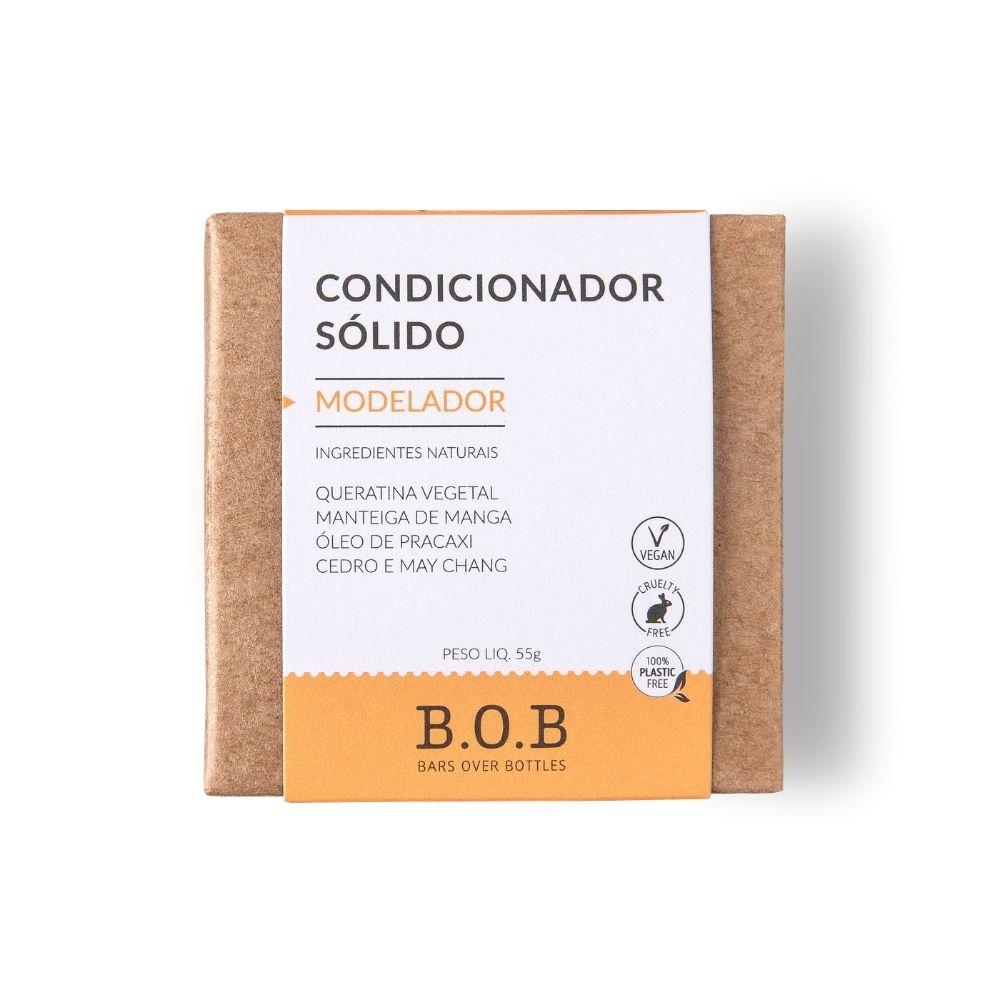 BOB Condicionador Sólido Modelador Em Barra com Queratina, Pracaxi e Manga 55g