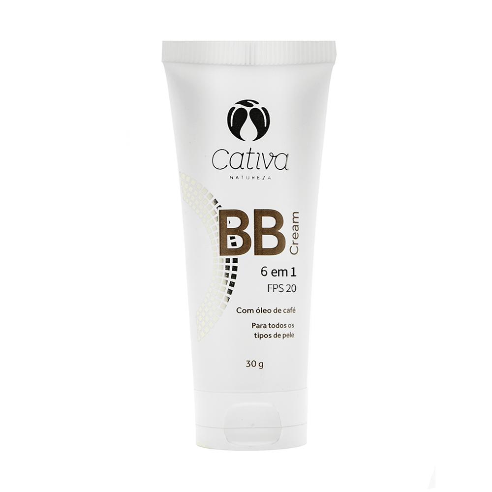 Cativa Natureza BB Cream 6 em 1 FPS 20 Multiuso Cor 1 30g