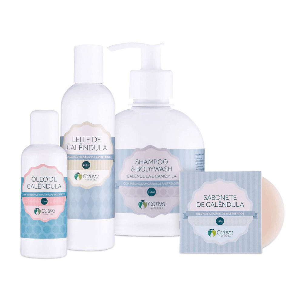Cativa Natureza - Kit Natural para Pele Sensível de Calêndula