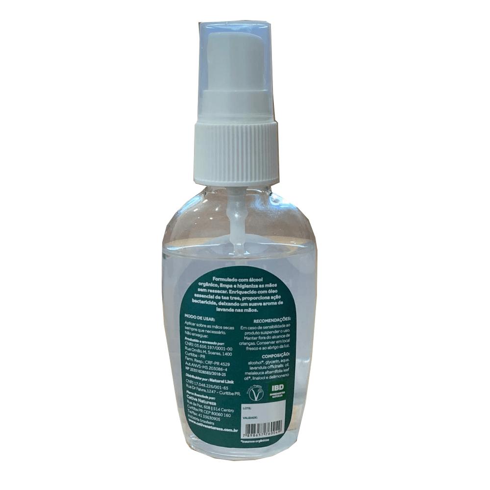 Cativa Natureza Loção Antisséptica Natural com Álcool Orgânico 60ml