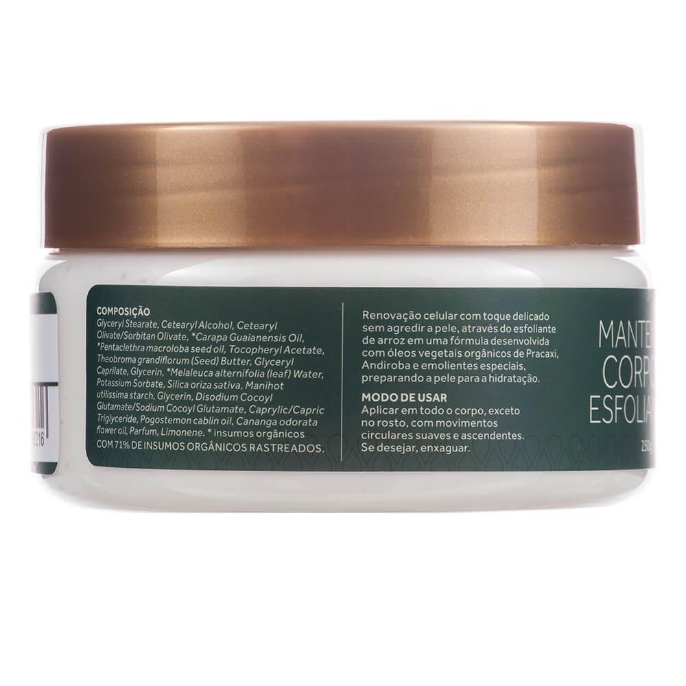 Cativa Natureza Manteiga Corporal Esfoliante Natural de Pracaxi e Andiroba 250g