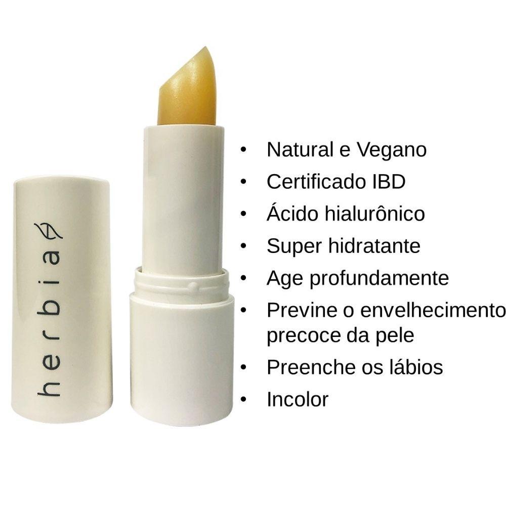Herbia Lip Balm Hidratante Natural com Ácido Hialurônico 3,4g