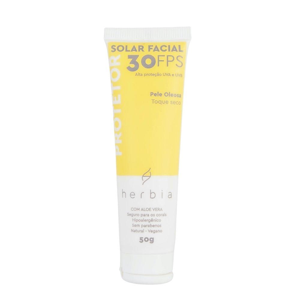 Herbia Protetor Solar Facial Natural FPS 30 para Peles Oleosas 50g