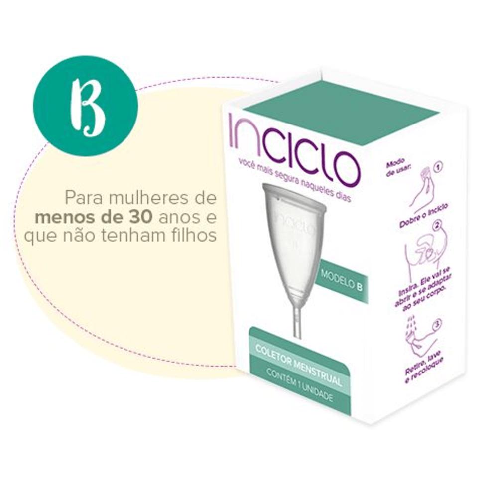 Inciclo Coletor Menstrual Modelo B Com 1 Unidade