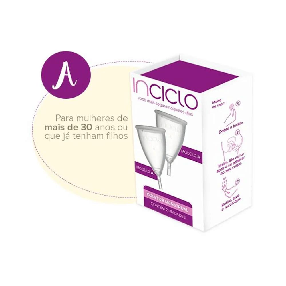 Inciclo Kit Coletor Menstrual Inciclo A com 2 unidades