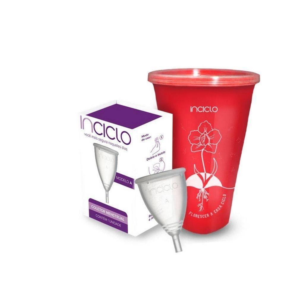 Kit Inciclo Coletor Menstrual Modelo A + Copo Esterilizador