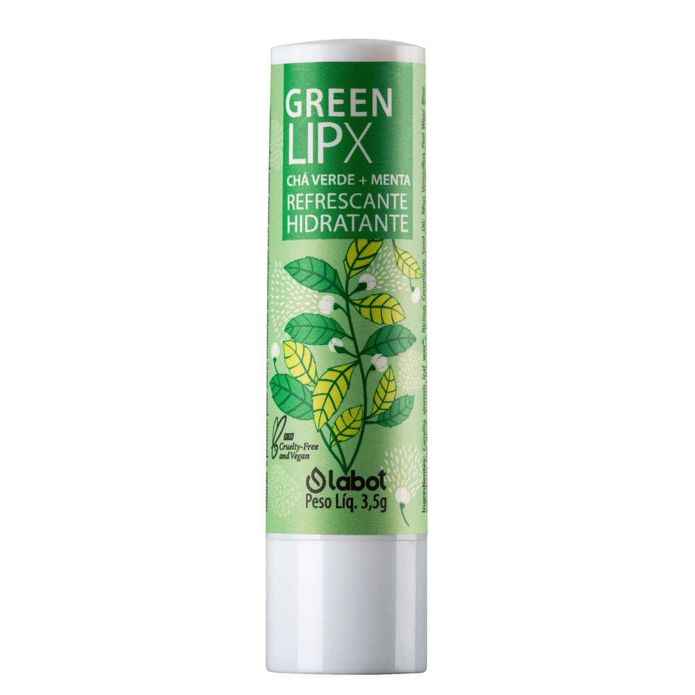 Labot Hidratante Labial Natural Refrescante Green Lipx 3,5g