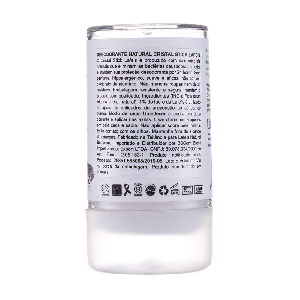 Lafe's Desodorante Natural Cristal Stick 120g