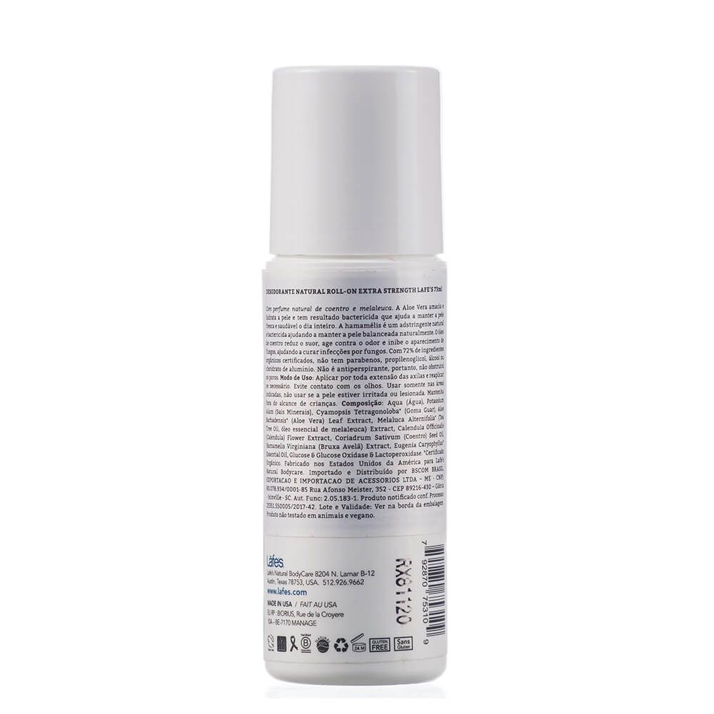 Lafe's Desodorante Natural Roll-On Extra Strength 73ml