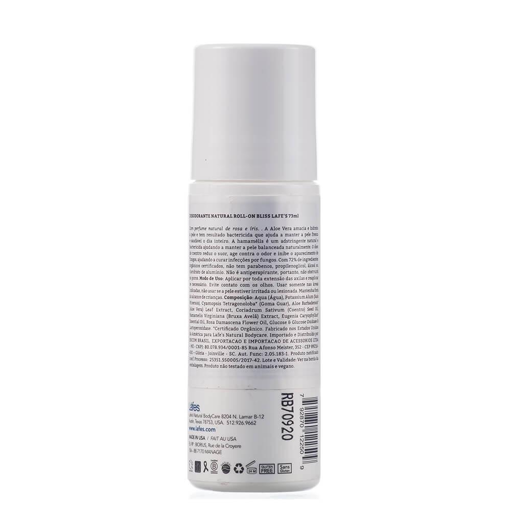 Lafe's Desodorante Roll-on Natural Bliss Rosas 73ml