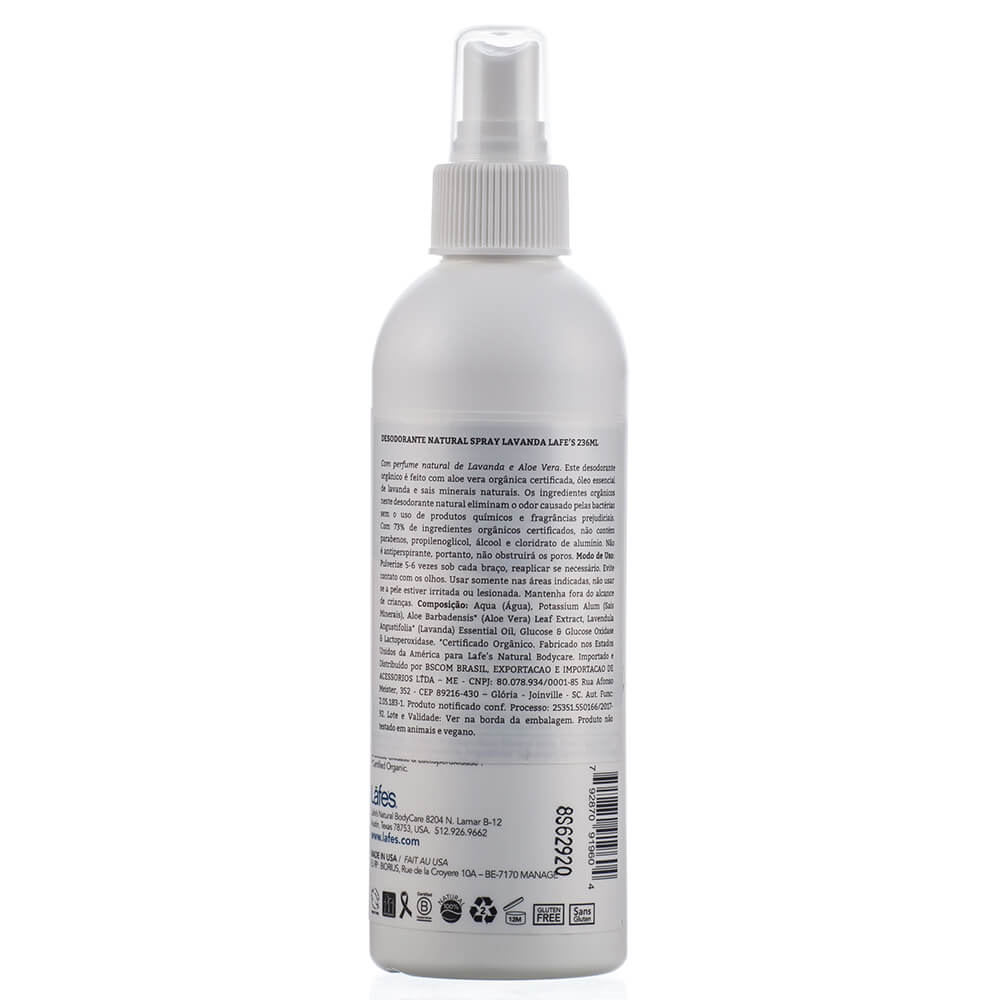 Lafe's Desodorante Natural Spray Soothe Lavanda 236ml