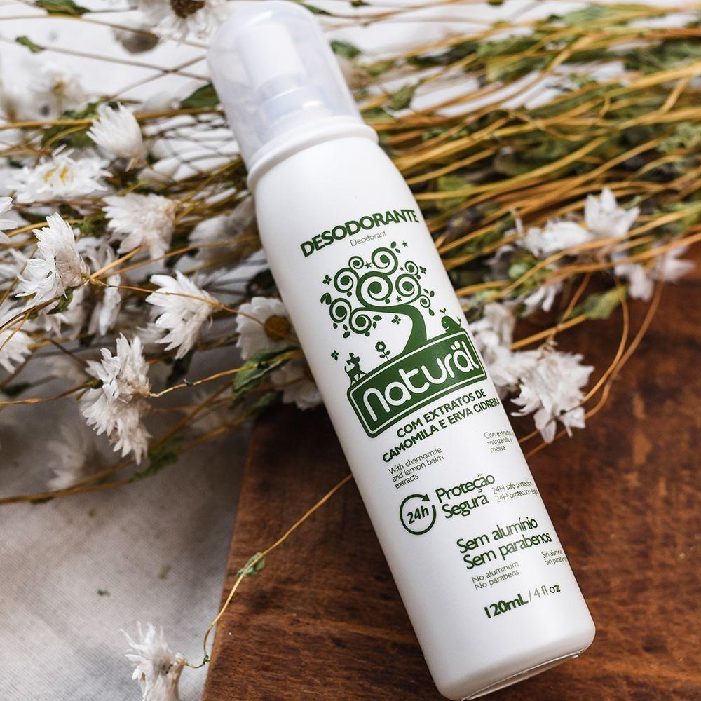 Orgânico Natural Desodorante de Camomila e Erva Cidreira 120ml