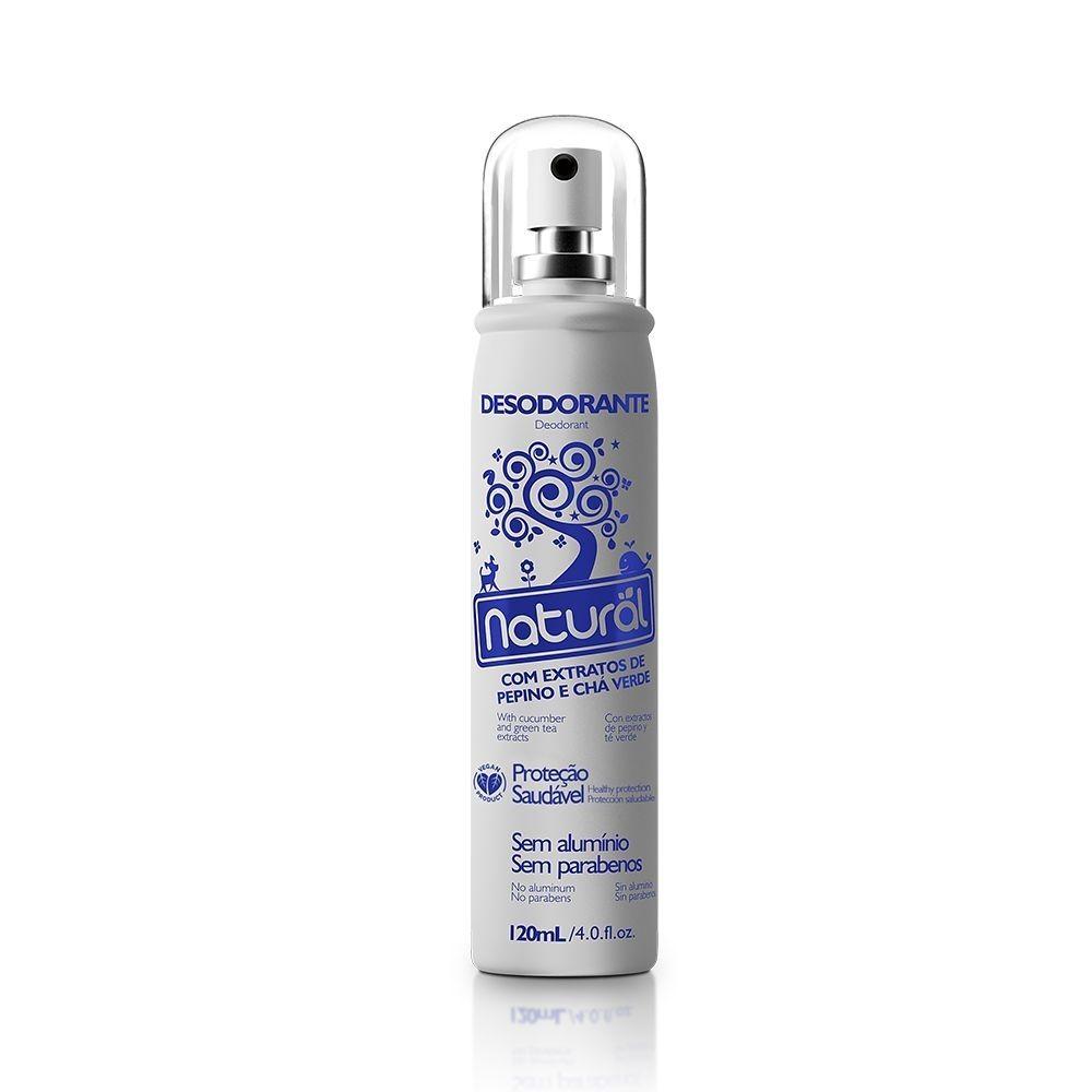 Orgânico Natural Desodorante de Pepino e Chá Verde 120ml