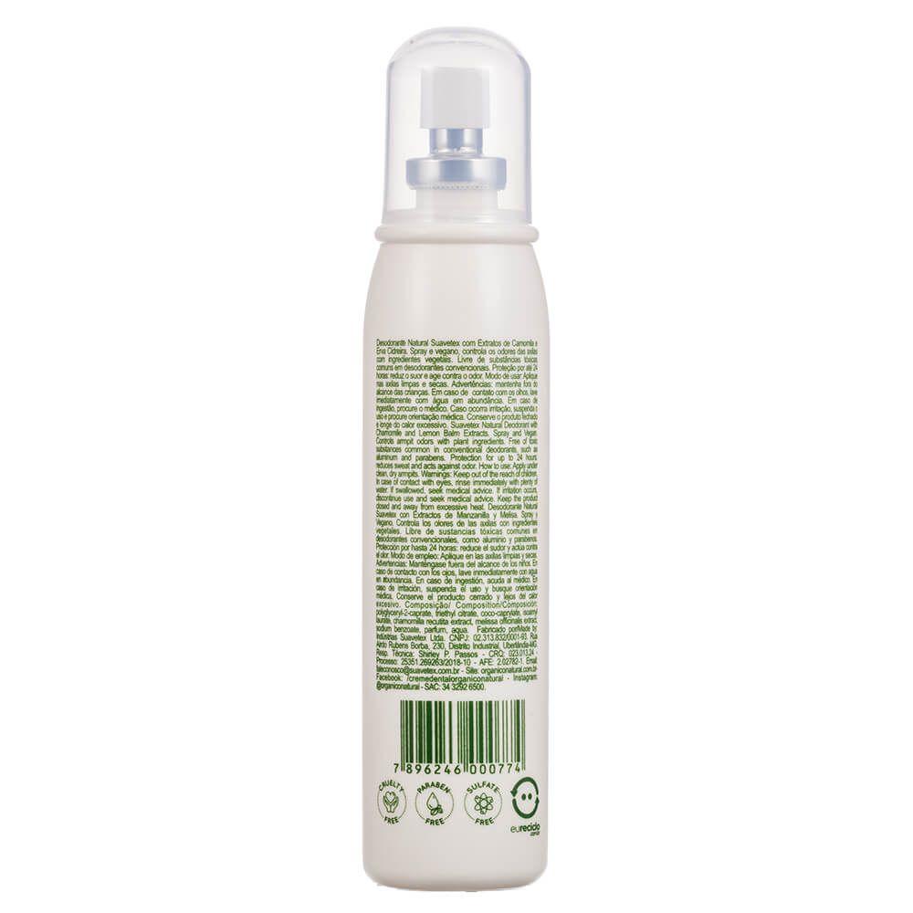 Orgânico Natural Desodorante Vegano com Extratos de Camomila e Erva Cidreira 120ml