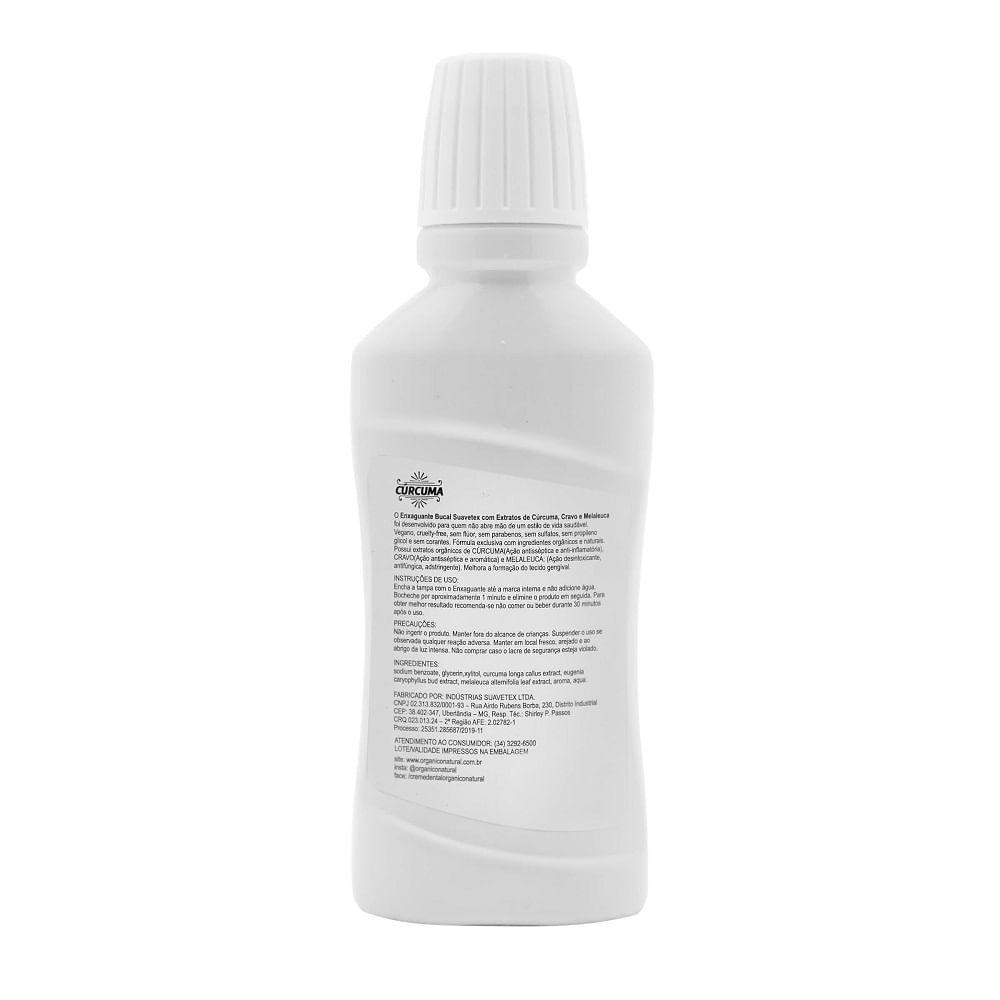 Orgânico Natural Enxaguante Bucal de Cúrcuma, Cravo e Melaleuca 250ml