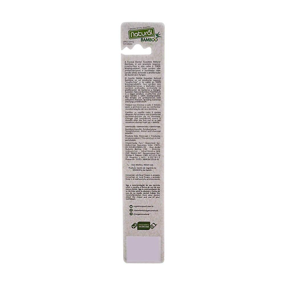 Orgânico Natural Escova Dental Natural de Bambu 34 Tufos
