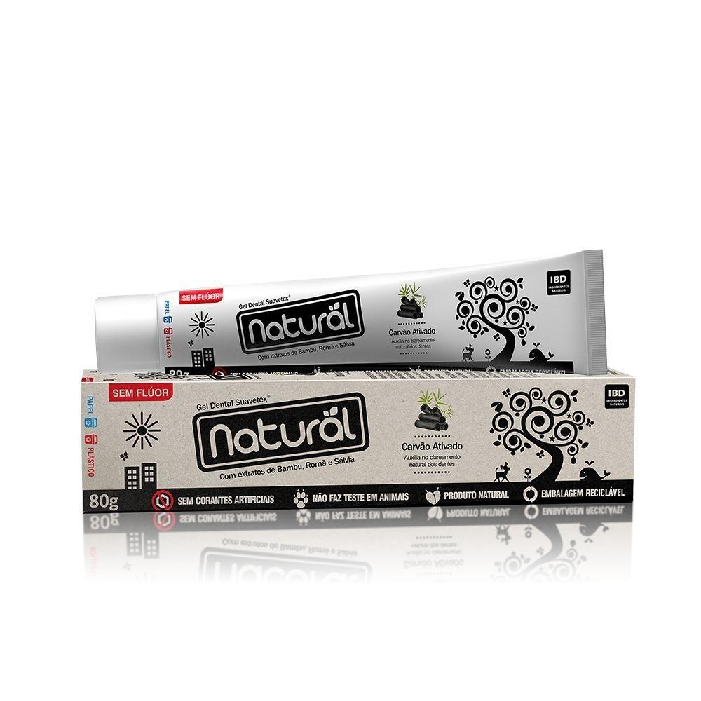 Orgânico Natural Pasta Dental Natural Contente Carvão Ativado 80g
