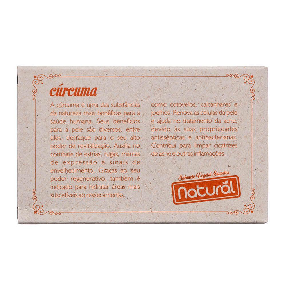 Orgânico Natural Sabonete Vegetal Natural Suavetex com Extrato de Cúrcuma 80g