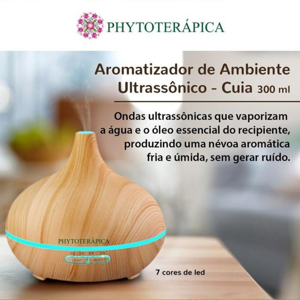 Phytoterápica Aromatizador Umidificador Ultrassônico Cuia 1un