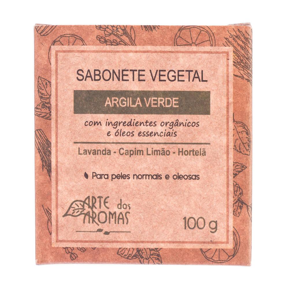 Sabonete Vegetal Natural Vegano de Argila Verde 100g Arte dos Aromas