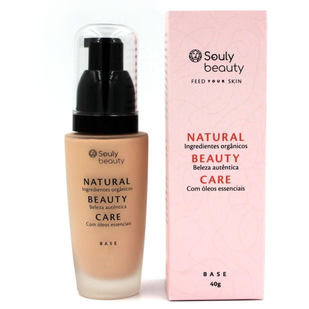 Souly Beauty Base Facial Líquida Natural Beige 40g