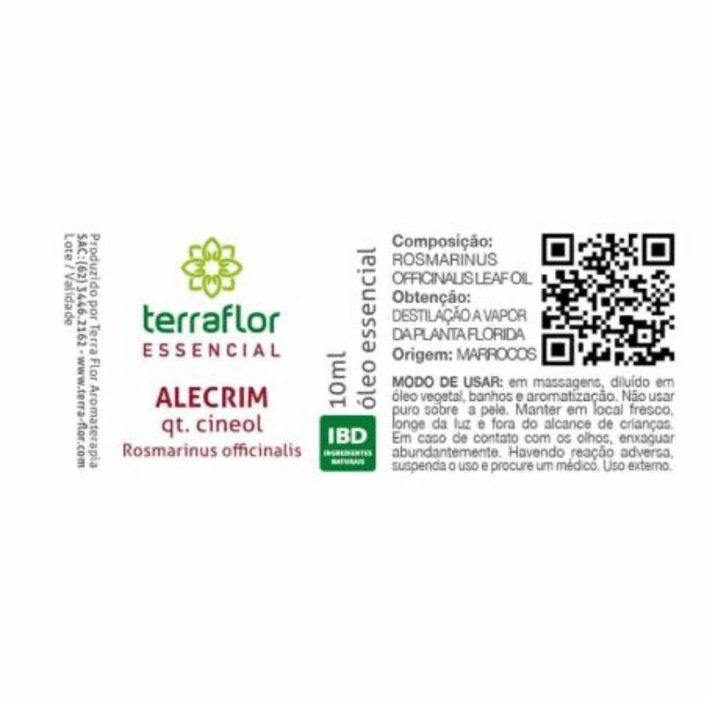 Terra Flor Óleo Essencial de Alecrim qt Cineol 10ml