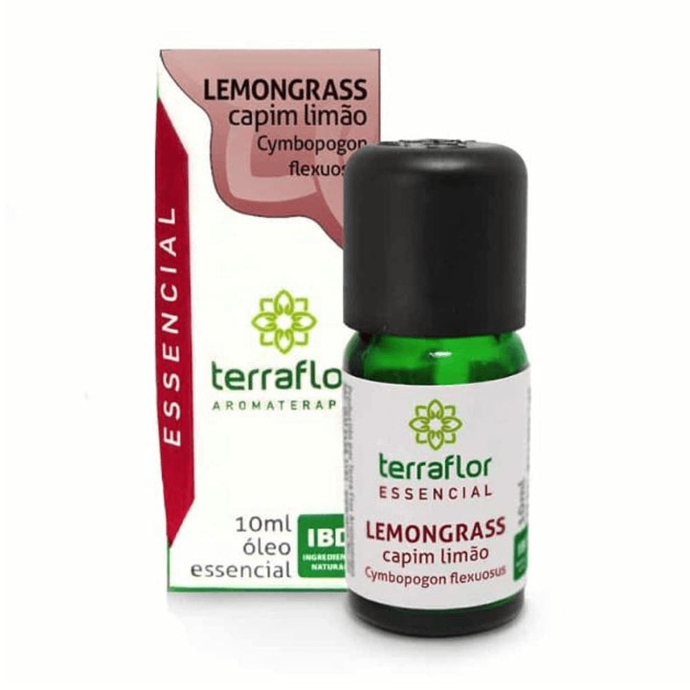 Terra Flor Óleo Essencial de Lemongrass Capim Limão 10ml
