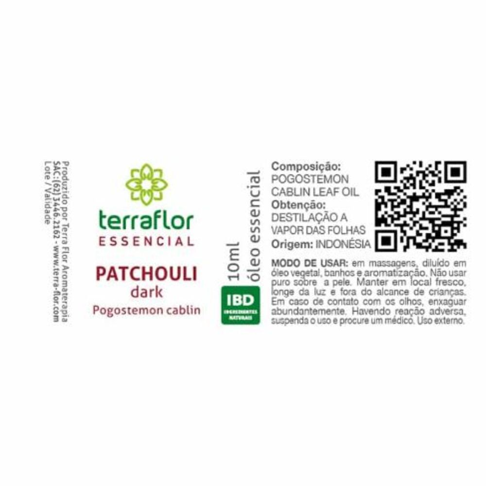 Terra Flor Óleo Essencial de Patchouli Dark Natural 10ml