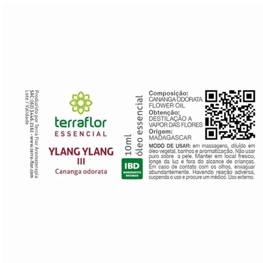 Terra Flor Óleo Essencial de Ylang Ylang III 10ml
