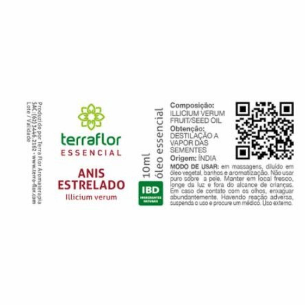 Terra Flor Óleo Essencial Natural de Anis Estrelado 10ml