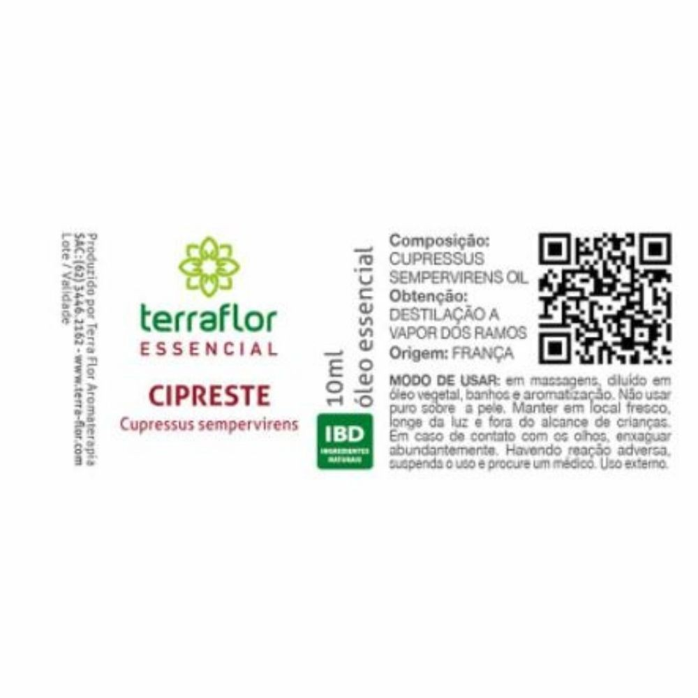 Terra Flor Óleo Essencial Natural de Cipreste 10ml