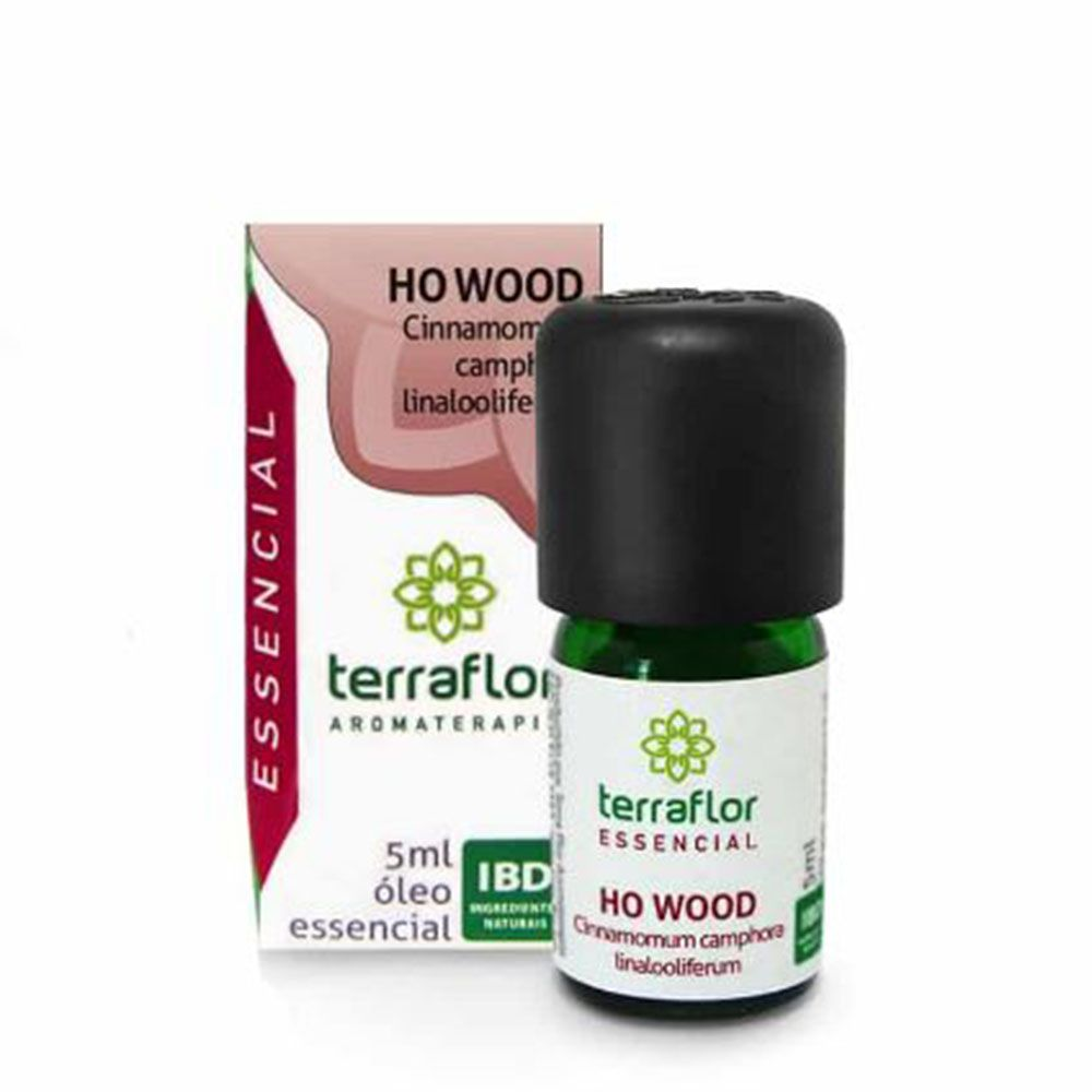 Terra Flor Óleo Essencial Natural de Ho Wood 5ml