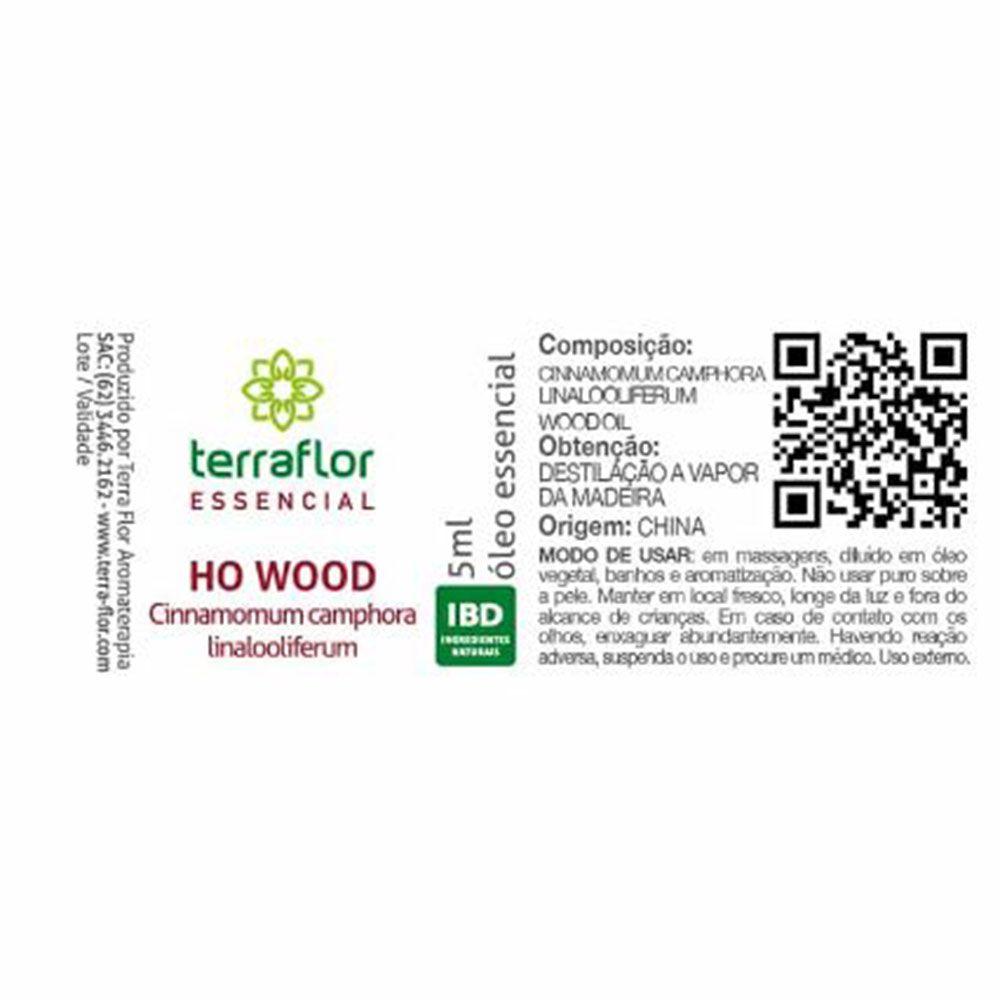 Terra Flor Óleo Essencial Natural de Ho Wood 5ml