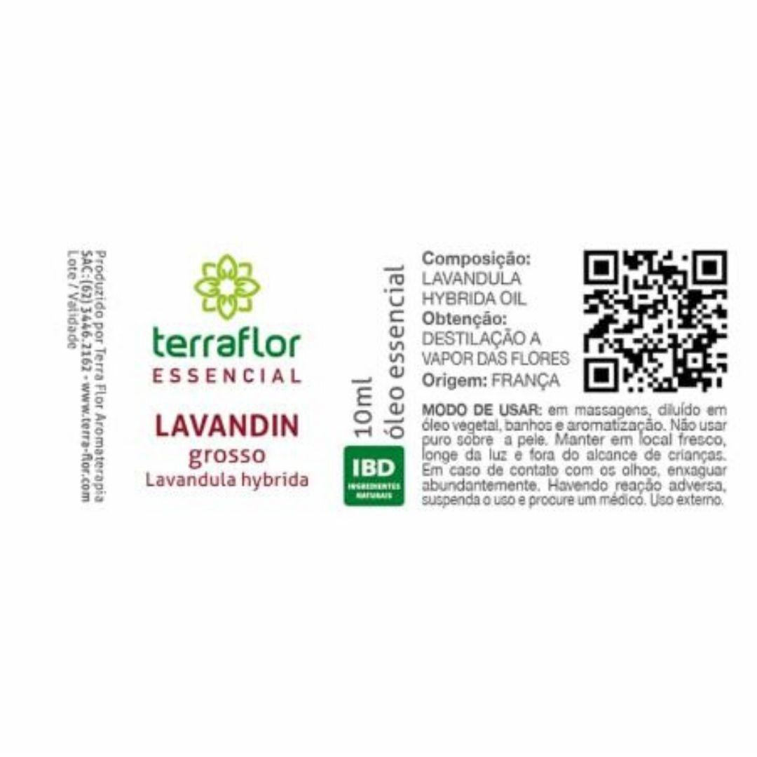 Terra Flor Óleo Essencial Natural de Lavandin 10ml