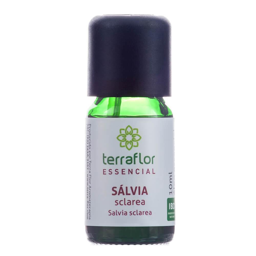 Terra Flor Óleo Essencial Natural de Sálvia Sclarea 10ml