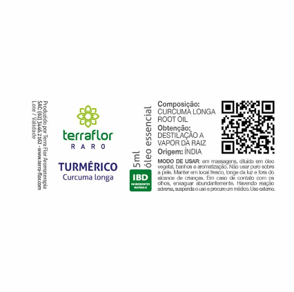 Terra Flor Óleo Essencial Natural de Turmérico 5ml