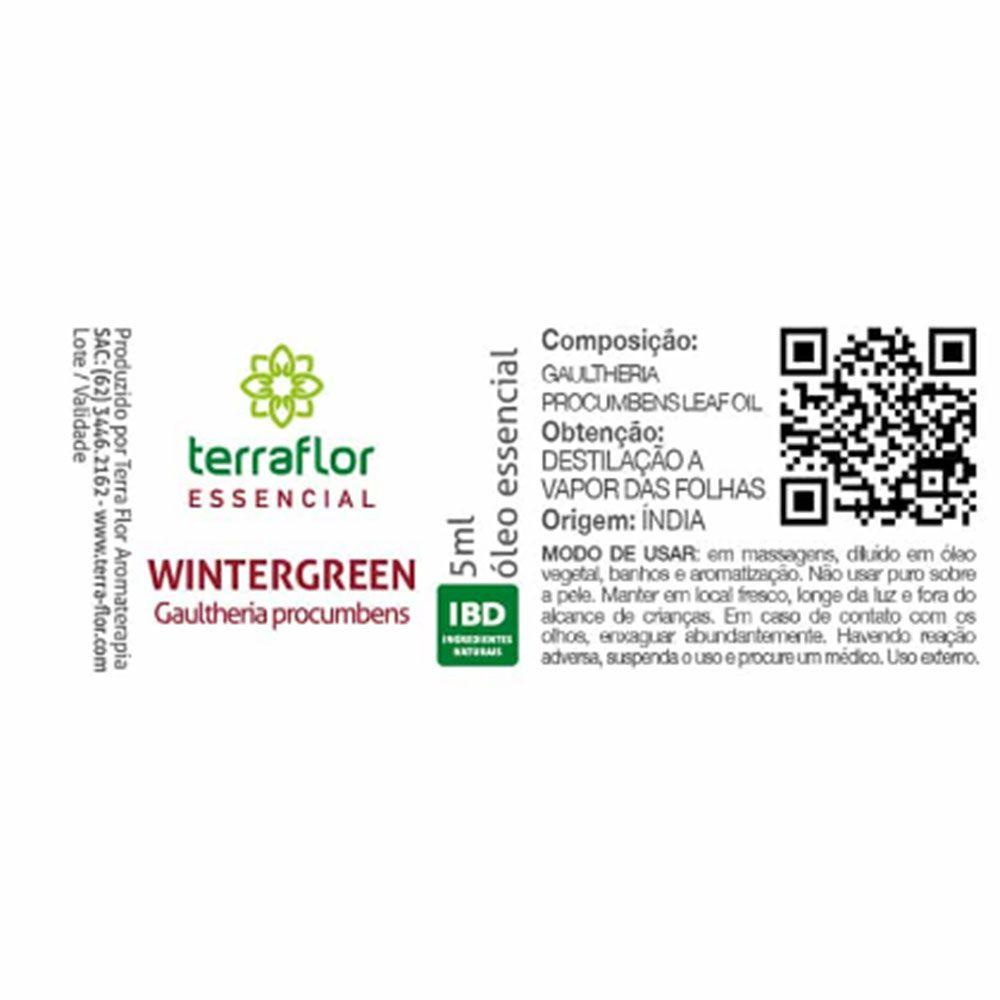 Terra Flor Óleo Essencial Natural de Wintergreen 10ml
