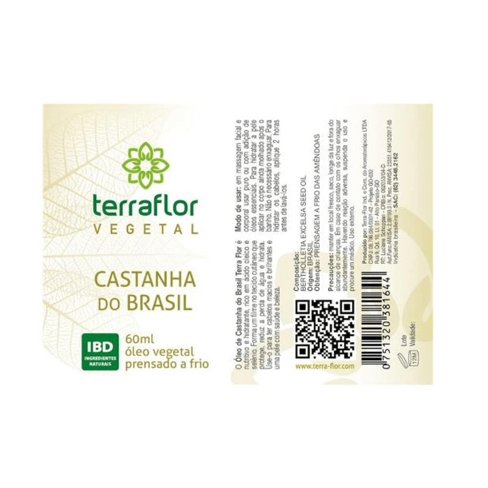 Terra Flor Óleo Vegetal de Castanha do Brasil 60ml