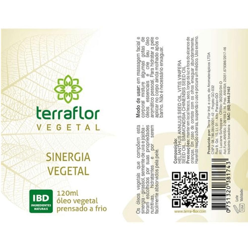 Terra Flor Sinergia Vegetal com Óleos Vegetais 120ml