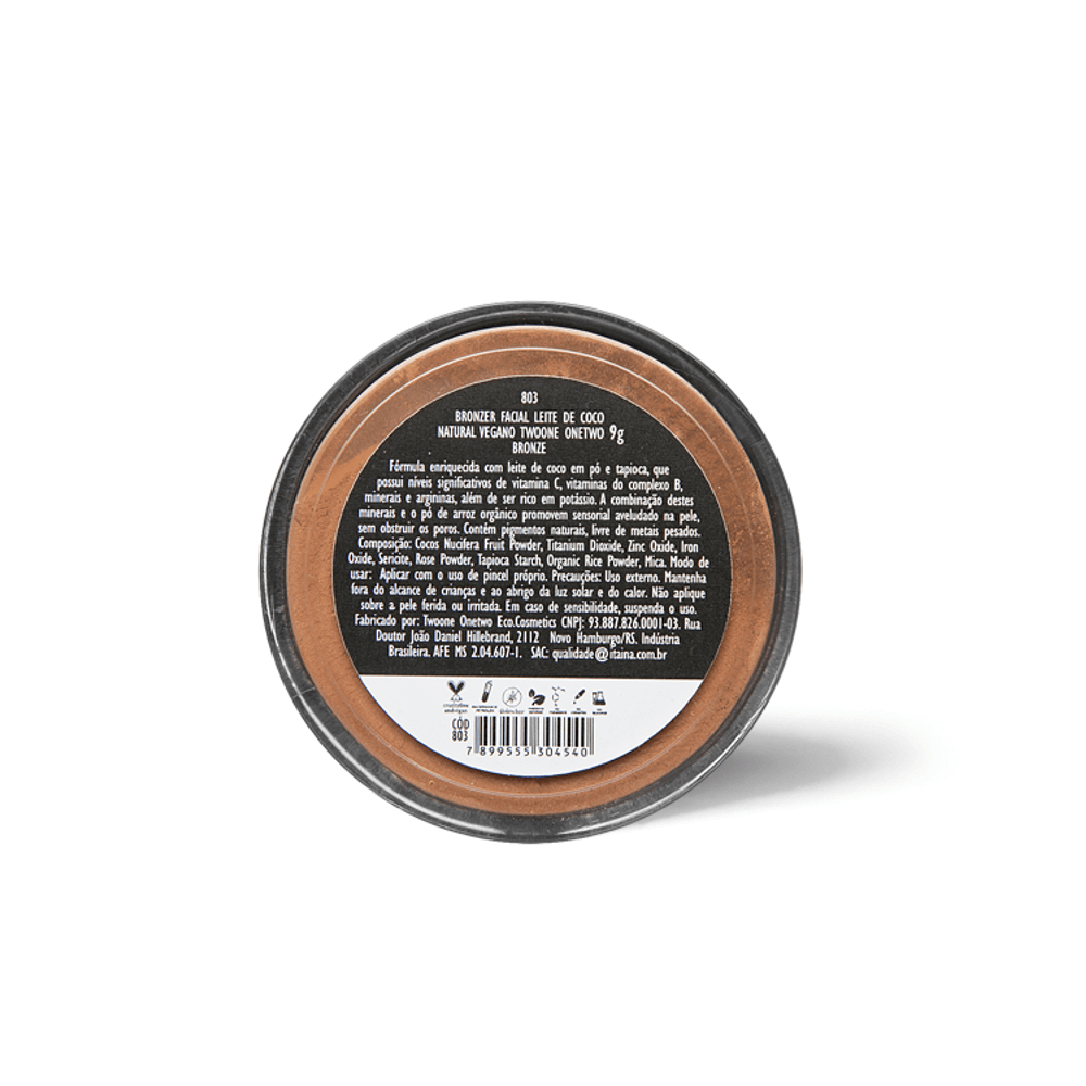 Twoone Onetwo Bronzer Facial Natural e Vegano 9g