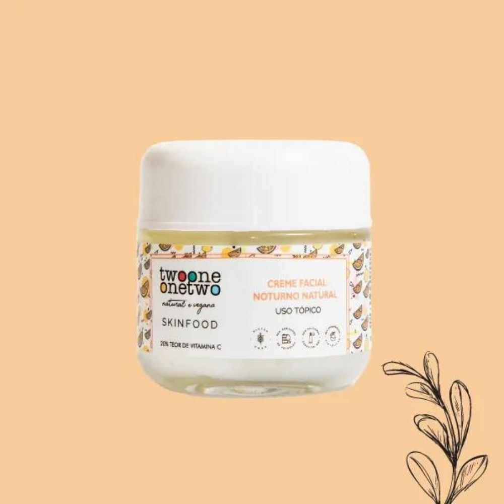 Twoone Onetwo Creme Facial Natural Vitamina C SkinFood 60g