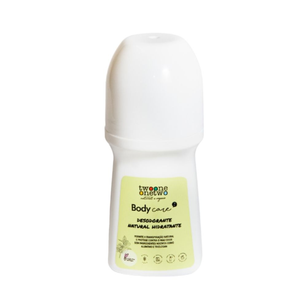 Twoone Onetwo Desodorante Roll-On Hidratante Hortelã-Pimenta e Melaleuca 70ml